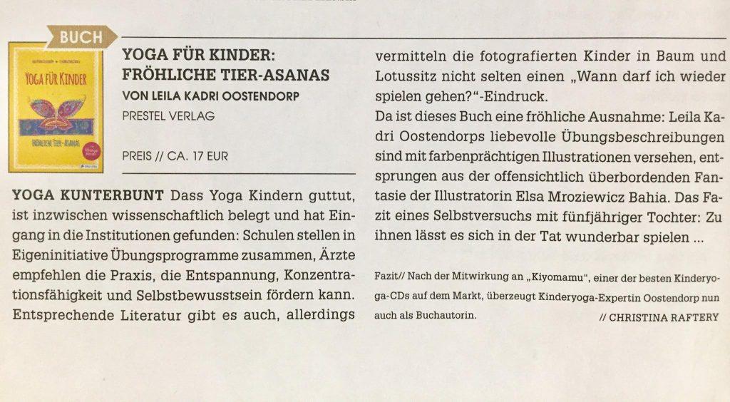 Yoga Journal Ausgabe Januar 2017 Kinder Yoga Welt Institut